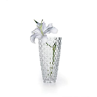 "Mikasa Palazzo Vase Crystal, 9"" - Versatile design can tie back to any Style of home decor 9-Inch crystal vase; wonderful gift for any occasion Made of crystal; Comes in Mikasa photo gift Box - vases, kitchen-dining-room-decor, kitchen-dining-room - 41bofjjnBeL. SS400  -"