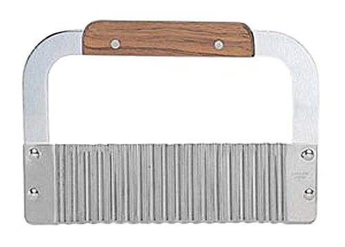 Wood handle Serrator, 7-Inch, Stainless Steel (Wavy Slicer)