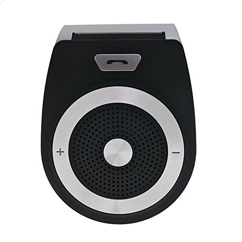BOLS Car Speakerphone - Portable Multipoint Wireless Hands-Free Bluetooth 4.1 Sun Visor In-Car Speakerphone A2DP streaming Car Kit for iPhone, iPad, Samsung, HTC, LG, Android Phones & Tablets