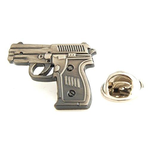 The Smart Man Men's Pistol Lapel Pins