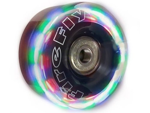 Firefly New Lightup Quad Roller Skate Replacement Wheels - Flashy Light Up LED Wheels (58mm) by Firefly