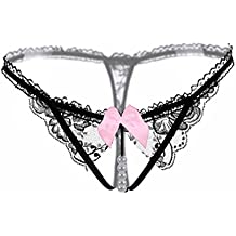 ICSTH Elastic Lace Pearls Lingerie Thongs Panties Sexy G Strings for Women WXLX-2167