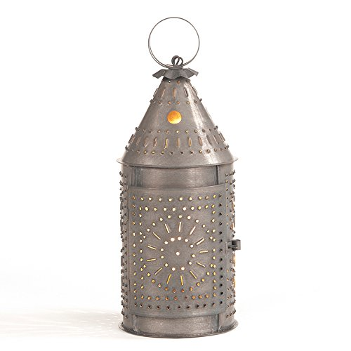 """12"""" Revere wired Lantern with Chisel in Blackened Tin"""