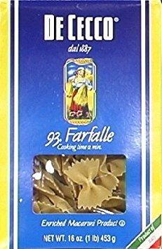 DeCecco Pasta Farfalle 16.0 OZ(Pack of 3)