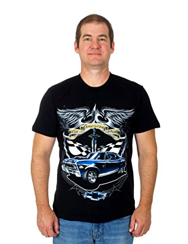 J.H. Design Chevy Nova Men's Tshirt (Medium, Black)