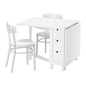 Zigzag Trading Ltd IKEA Norden/IDOLF - Mesa y 2 sillas Blanco ...