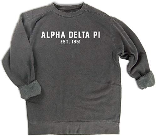 Sweatshirt  Choose Your Color Alpha Phi   A Phi  Sorority Comfort Color Skinny Latte