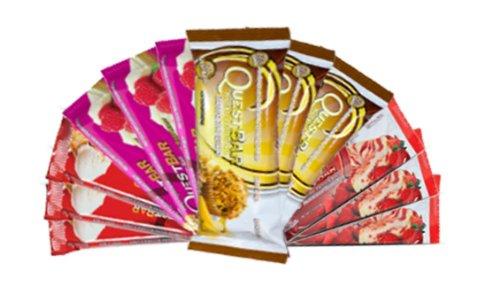 Quête Variety Pack, tarte aux pommes, fromage et aux fraises, aux framboises et au chocolat blanc Banana Nut Muffin, Bars 12 de protéines
