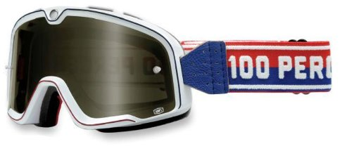 100% Unisex Adult Barstow White Classic Goggles - Outlet Barstow