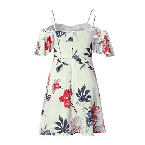 Mujeres Casual xl Print Wang Dress Sling Floral Las Xl S De Sexy Vestidos Beach Verano Seaside tamaño qwCw1RFx