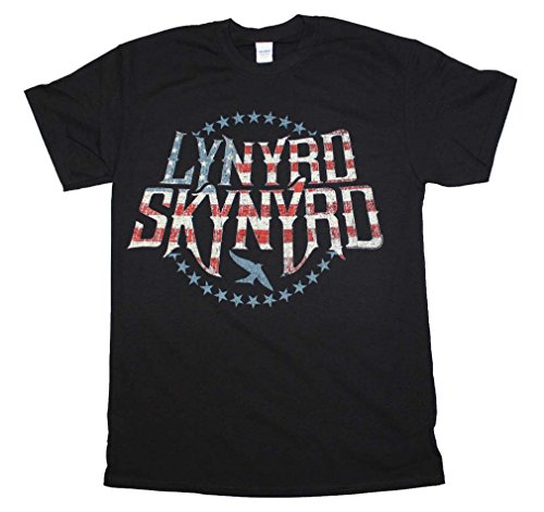 Lynyrd Skynyrd Men's Stripes & Stars Logo T-shirt X-Large Black