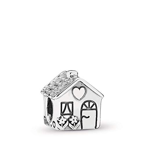 PANDORA Home, Sweet Home Charm, Sterling Silver, One Size (Best Friend Pandora Bead)