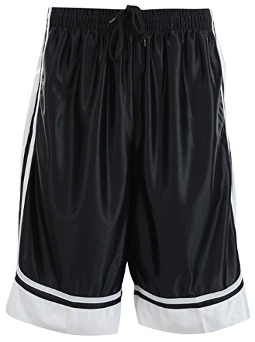 ChoiceApparel Mens Two Tone Training/Basketball Shorts with Pockets (S up to 4XL) (3XL, Black) (Old School Basketball Shorts)