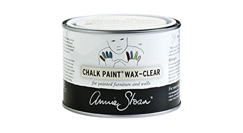 Old Black Finish (CHALK PAINT (R) Wax - Clear (500mL) - Annie Sloan - Transparent - Matte finish - Seals and protects furniture)