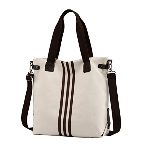 Hobo Beige Totes Purses Lonson Canvas Women's Travel Handbags Bag Satchel Shoulder TxIaCFq
