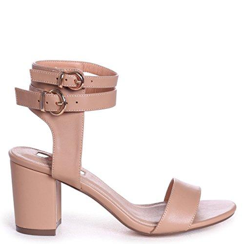 Linzi Naomi - Mocha Nappa Block Heeled Sandal with Double Ankle Strap Mocha DjC3ZGVD