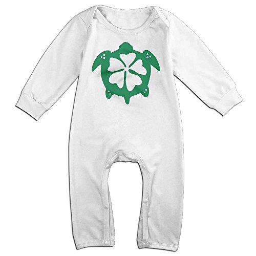Newborn Baby Flower Sea Turtle Hawaii Long Sleeve Climb Clothes 24 Months (Miss Living Dead Costume)