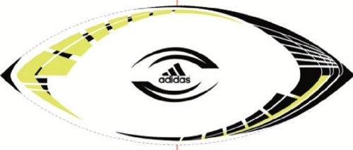 adidas Torpedo X-Treme Rugby Ball (White, Black, Electricity, 5)