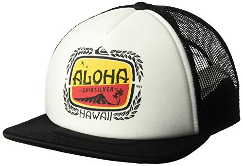 Quiksilver Men's HI Aloha BREEZIN Trucker HAT, Birch, 1SZ