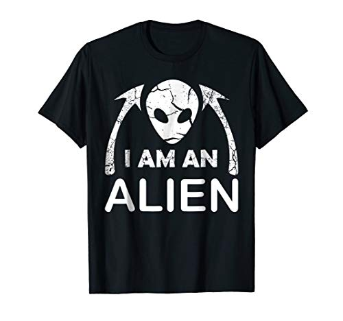 I AM AN Alien Halloween Costume T-Shirt for Men Women Kids