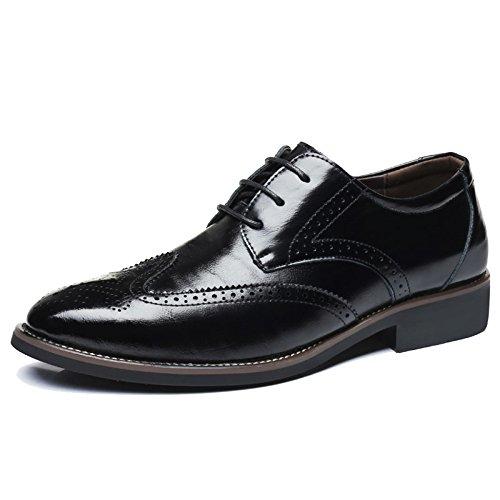 En Les D'affaires Cuir De Travail MERRYHE Ups Derby Cuir Brogue Hommes De Partie Formelles Chaussures Mode Chaussures Le Classiques Black Pour Pour De Mariage Véritable 8q8pIE