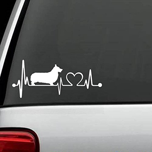 Bluegrass Decals K1037 Pembroke Welsh Corgi Heartbeat Lifeline Monitor Decal Sticker