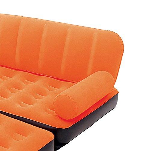 Bestway Multi-Max Inflatable Couch with Air Pump, Orange by Bestway (Image #2)
