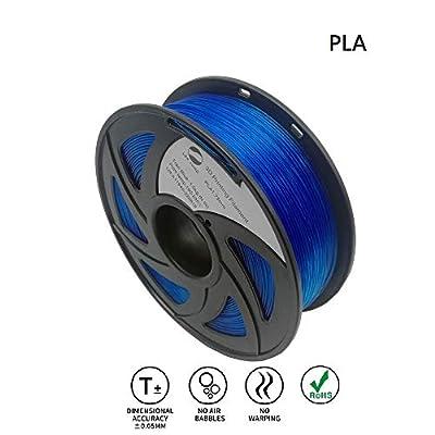 LEE FUNG 1.75mm PLA 3D Printing Filament Dimensional Accuracy +/- 0.05 mm 2.2 LB Spool DIY Material Tools (Transparent Blue)
