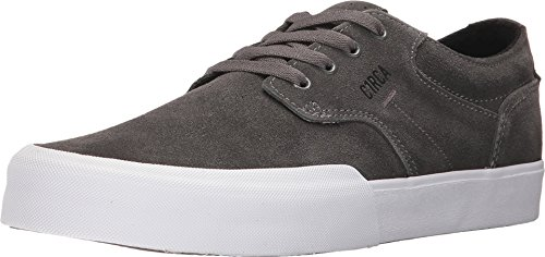 C1RCA Men's Elston Low Profile Durable Non Slip Skate Shoe, Charcoal/White, 13.0 Medium US