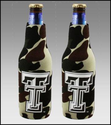 セット2テキサスTechレッドRaiders Camo Bottle Suit Koozies   B002ZKLUQG