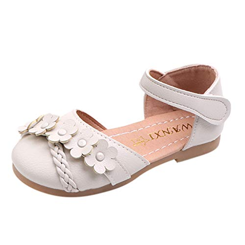 ZOMUSAR 2019 Toddler Infant Kids Baby Girls Flower Woven Floral Princess Shoes Sandals Beige