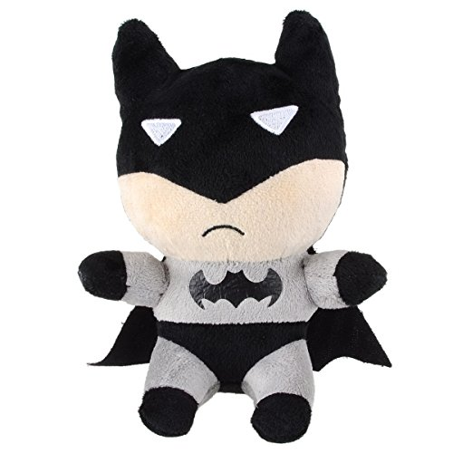 Toss Batman or make him fly through the air to hear iconic phrases and awesome sound effects. Take him wherever you go for action-packed adventures! Plush .