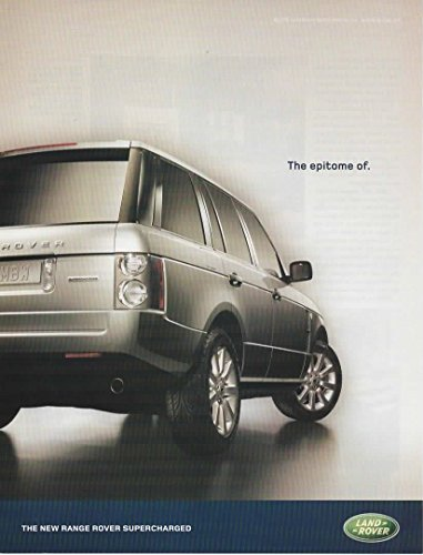 Magazine Print Ad: Silver 2005 Land Rover-Range Rover Supercharged,
