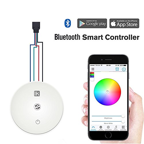 LED Strip Light Bluetooth Remote Controller, InnKoo Magic UFO for RGB RGBW 5050 3528 DC 12V 24V, Compatible with iOS and Android, for Home Bedroom Garden Party Wedding Decoration and (Above Dining Sets)