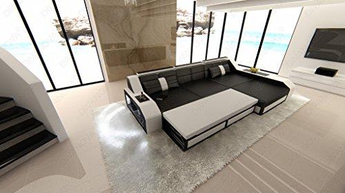 Divano Nero Moderno : Divanova divano moderno antares angolare in similpelle nero