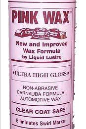 1 Bottle- Car Wax - Streak Free Car Polish - Easy to Apply Car Care Product - Ultra High Gloss for Automotive Detailing - Car Cleaning Product by Pink Wax for a Showroom Shine ()