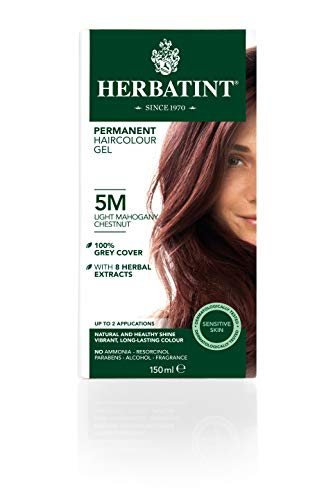 Herbatint Permanent Herbal Haircolor Gel, 5M Light Mahogany Chestnut, 4.56 -