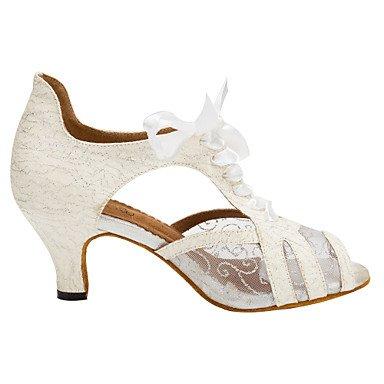 XIAMUO Anpassbare Women's Ballroom Dance Schuhe funkelnden Glitter Latin/Salsa tanzen Lace-up Schuhe, Schwarz, US 9 / EU 40/UK7/CN41
