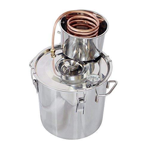 ECO LLC 5Gal Alcohol Distiller Water Distiller Stainless Copper 20L Boiler Home Brew Kit by ECO LLC (Image #7)