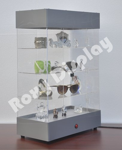 (JW-AD-F6804) ROXY DISPLAY Acrylic Display Tower Case (JW-AD-F6804SL)
