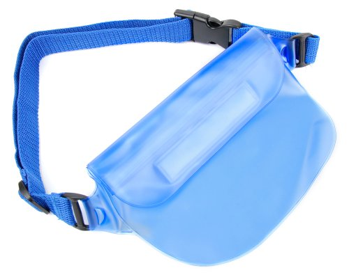 - DURAGADGET Blue Waterproof Fanny Pack/Waist Bag Strap - Compatible with Camcorders Including Panasonic HC-V100 / HC-V500 & Veho Muvi Pro Micro DV