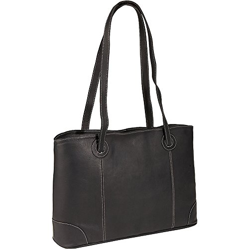 Piel Large Leather Working Laptop Tote (Black) by Piel Leather