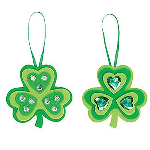 Fun Express Shamrock Ornament Craft Kit 12 Count