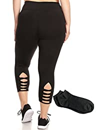 Womens Long Black Leggings Tights and Capris Seamless Basic Classic