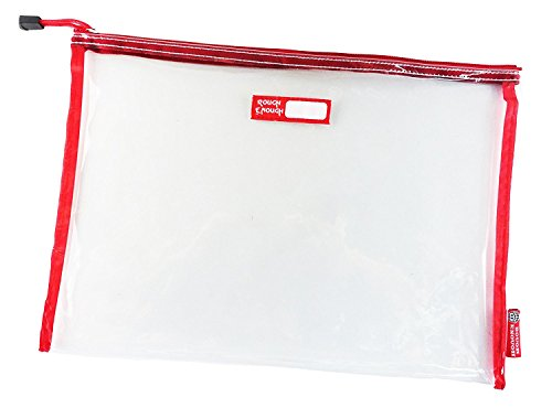 Rough Enough Durable Transparent Clear Classic Multi-Functional Big Document Pouch with Zipper A4 Size Important Storage File Holders Large Folder for Filing Organizer TSA School Business Travel by RE ROUGH ENOUGH (Image #6)