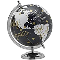 Elements Black and Gold Dot Globe, 8 by 11-Inch,...