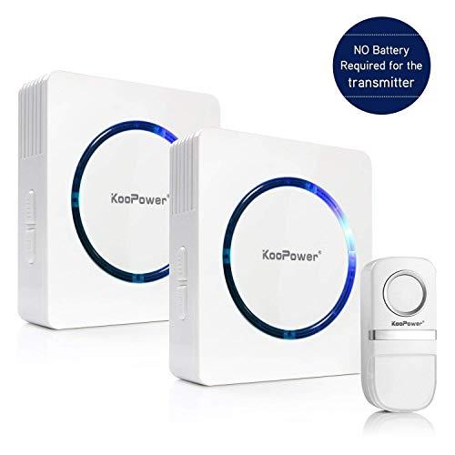 [Self-Generating Power] Wireless Doorbell, 1 Push Button (No Battery...