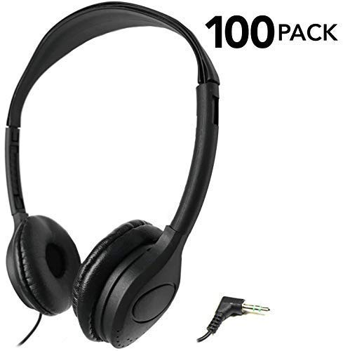 SmithOutlet 100 Pack Over The Head Low Cost Headphones in Bulk (Best Low Price Headphones)