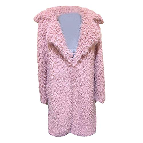 Sleeve Long Cardigan Rosa Warm Donna Coat Knitted Loose Solid Outwear Yying 5EUq7wAxw