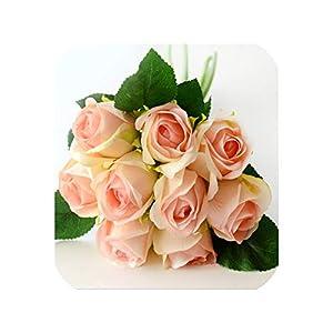 meiguiyuan 7/9PCS/set Artificial Rose Bouquet Decorative Silk Flowers Bride Bouquets for Wedding Home Party Decoration Wedding Supplies 7